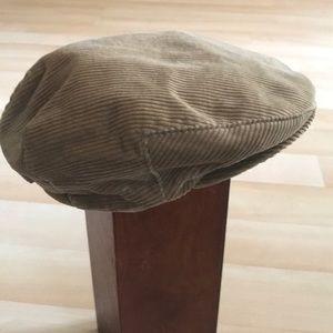 Vintage tan corduroy hat
